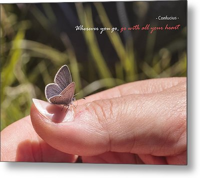 Go With All Your Heart - Confucius Metal Print by Alfio Finocchiaro