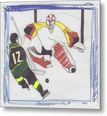 Metal Print featuring the drawing Shut Out By Jrr by First Star Art