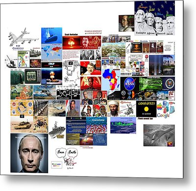 Goal Post Putin Metal Print by Peter Hedding