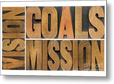 Goals Vision And Mission Metal Print by Marek Uliasz