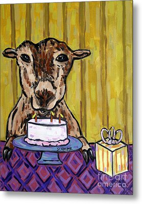 Goat At The Birthday Party Metal Print by Jay  Schmetz
