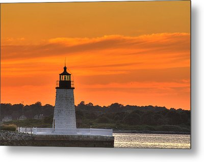 Goat Island Light Metal Print by Andrew Pacheco