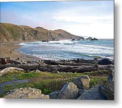 Goat Rock State Beach On The Pacific Ocean Near Outlet Of Russian River-ca  Metal Print by Ruth Hager