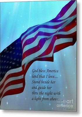 God Bless America Metal Print by Barbara Chichester