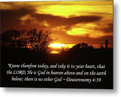 God In Heaven Metal Print by Robyn Stacey
