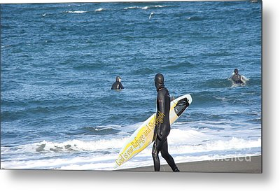 God Is Our Refuge At The Ocean Metal Print by Beverly Guilliams
