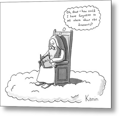 God Is Sitting On A Chair In Heaven Metal Print