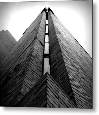 Goddard Stair Tower - Black And White Metal Print