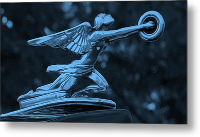 Metal Print featuring the photograph Goddess Hood Ornament  by Patrice Zinck