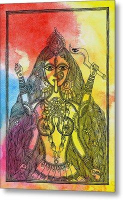 Goddess Kali Metal Print