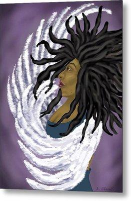 Goddess Rising Metal Print by Linda Marcille