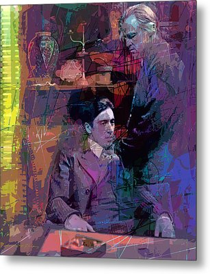 Godfather And Son Metal Print by David Lloyd Glover