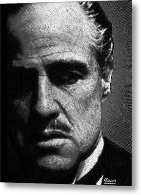 Godfather Marlon Brando Metal Print by Tony Rubino