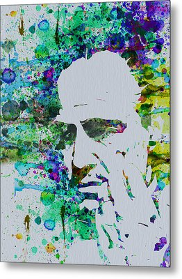 Godfather Watercolor Metal Print by Naxart Studio