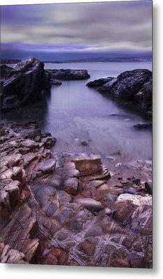 Godrevy Rocks 2 Metal Print by Debra Jayne