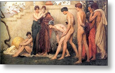 Gods At Play Metal Print by William Blake Richmond