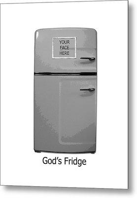 God's Fridge Metal Print by Stephanie Grooms