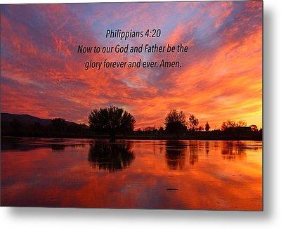 God's Glory Metal Print by Lynn Hopwood
