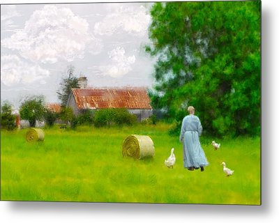 God's Little Acre Metal Print by Mary Timman
