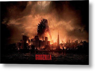 Godzilla 2014 Metal Print by Movie Poster Prints