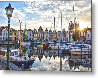 Goes Harbour Metal Print