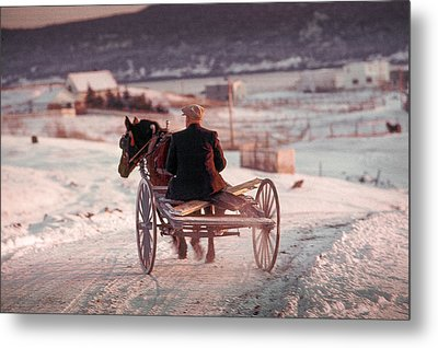 Going Down The Road Metal Print by Douglas Pike