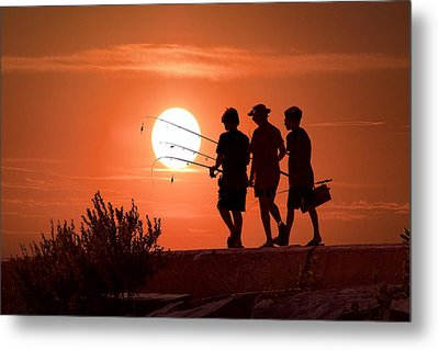 Going Fishing Metal Print by Randall Nyhof