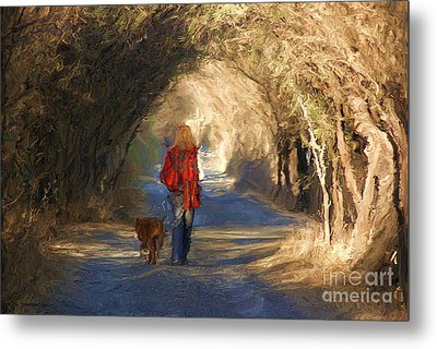 Going For A Walk Metal Print