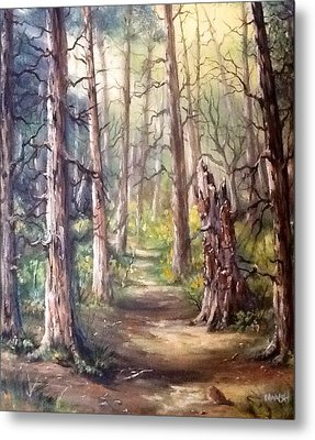 Metal Print featuring the painting Going For A Walk by Megan Walsh