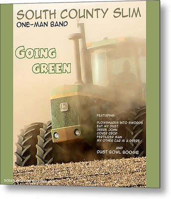 Going Green - South County Slim Metal Print by Everett Bowers