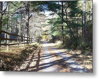 Going Home By Angela Clay Metal Print by Angelia Hodges Clay