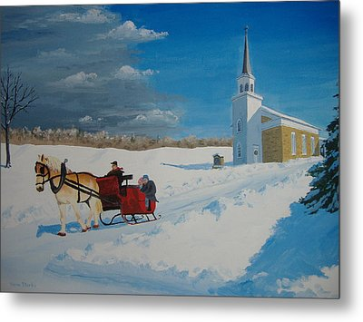 Going Home From Church Metal Print by Norm Starks