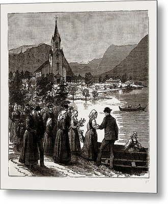 Going Home From Church, Norway Metal Print