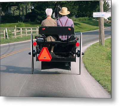 Metal Print featuring the photograph Going Home by Mary Beth Landis