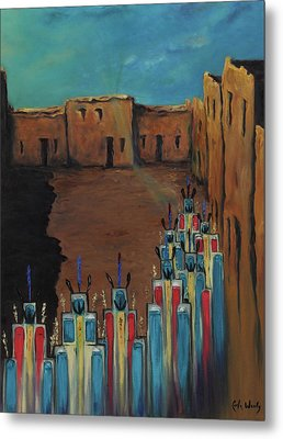 Metal Print featuring the painting Going Home Shungopavi by Carla Woody