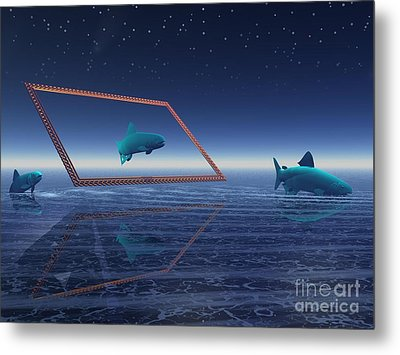 Metal Print featuring the digital art Going No Where  by Jacqueline Lloyd