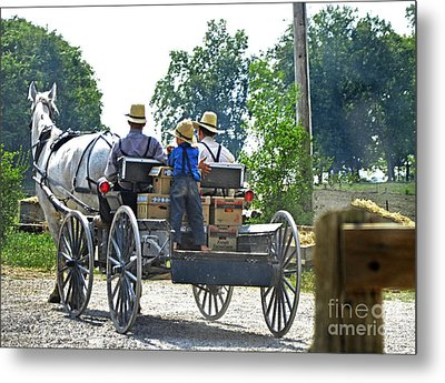 Going To Market Metal Print by Paul Mashburn
