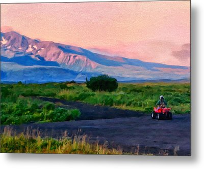 Going To School Cold Bay Style Metal Print