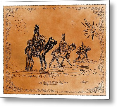 Going To See The King - Sketch Metal Print by Glenn McCarthy Art and Photography