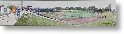 Going To The Baseball Game Digital Art Metal Print by Thomas Woolworth
