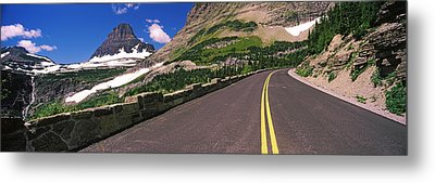 Going-to-the-sun Road At Us Glacier Metal Print by Panoramic Images