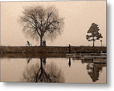 Going With The Flow Metal Print by John Jacquemain