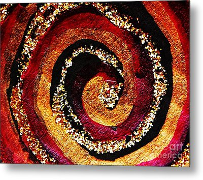 Gold And Glitter 55 Metal Print by Sarah Loft