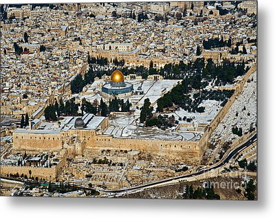 Gold And White In Jerusalem. Metal Print