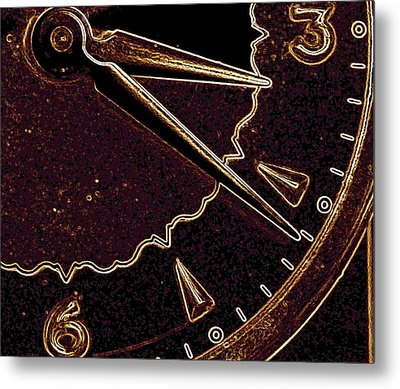 Metal Print featuring the photograph Gold Clock by Michael Dohnalek