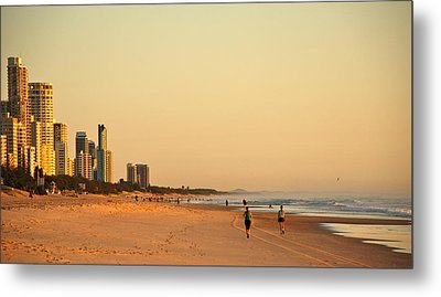 Metal Print featuring the photograph Gold Coast Beach by Eric Tressler