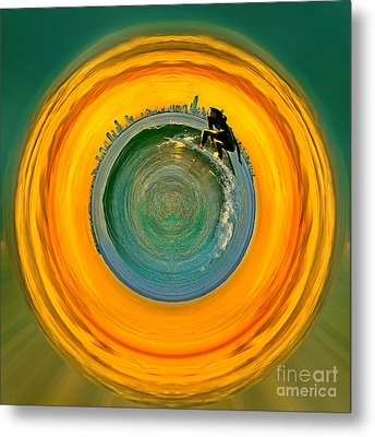 Gold Coast Surfer Circagraph Metal Print by Az Jackson