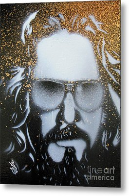 Gold Dude  Metal Print by Christopher  Chouinard