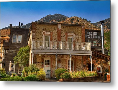 Gold Hill Hotel And Saloon Metal Print by Donna Kennedy