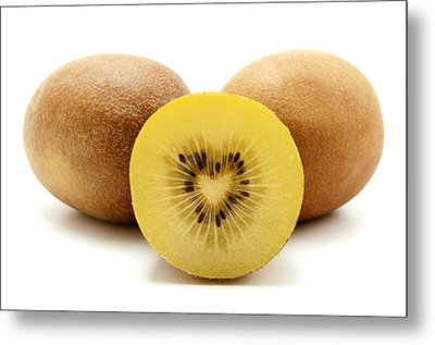 Metal Print featuring the photograph Gold Kiwifruit by Fabrizio Troiani